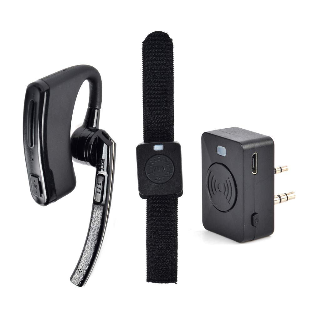NAGOYA Updated Version 2 Pin Wireless Earpiece, Two Way Radio Bluetooth Headset with PTT for Kenwood PUXING Baofeng UV-5R UV-5RA 888S Walkie Talkie