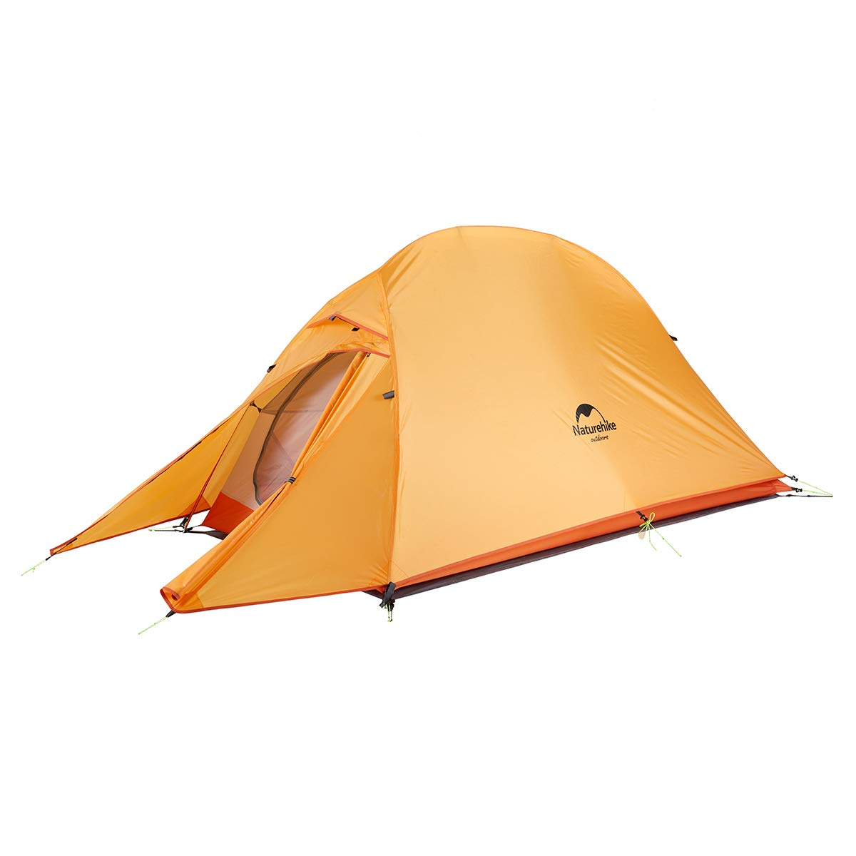 Naturehike Cloud-Up 1, 2 and 3 Person Lightweight Backpacking Tent with Footprint - 4 Season Free Standing Dome Camping Hiking Waterproof Backpack Tents (1P-Orange) by Naturehike