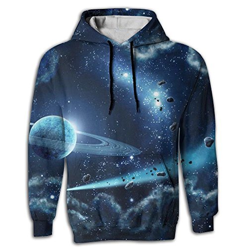 Patrick Star Costume Shorts (Nanihat Blue Stars Pullover Pocket Full Print Sublimation 3d Digital Hoodie Spring For Outdoor Sports Comfortable Sweater Running Fit Unisex XXL)
