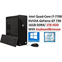 2017 Newest Dell XPS8920 Business Desktop, Intel Quad-Core i7-7700 up to 4.2GHz, 16GB DDR4, 1TB 7200rpm HDD, NVIDIA GeForce GT 730 with 2GB DDR3, 802.11ac, Bluetooth, DVDRW, HDMI, MaxxAudio Pro, Win10