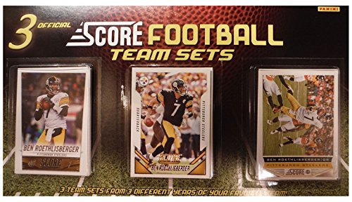Pittsburgh Steelers 3 Team Set Factory Sealed Gift Lot Including 2015, 2014 and 2013 Score Steelers Sets Featuring 3 Different Ben Roethlisberger Cards Plus Rookies and More