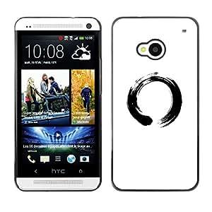 // PHONE CASE GIFT // Duro Estuche protector PC Cáscara Plástico Carcasa Funda Hard Protective Case for HTC One M7 / Símbolo chino del Círculo /