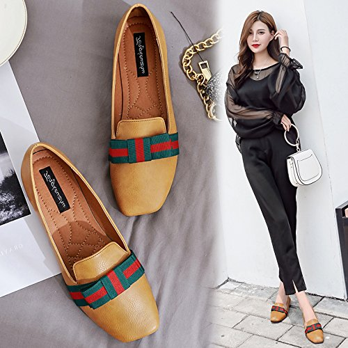 Xue Qiqi Court Schuhe Schuhe Schuhe Flache Schuhe der Flachen Schuhe der Flachen Schuhe des Schmetterlings Beschuht beiläufige Schuhe der Schuhe mit Vier Schuhen die Schuhe der Frauen 82fe10
