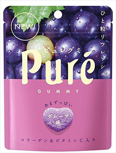 칸로 KANRO 《퓨레구미》 pure gummy 그레이프 56g×6 포 / 쁘띠 삼각 포도 / 쁘띠 삼각 레몬 / 머스캣 / 레몬