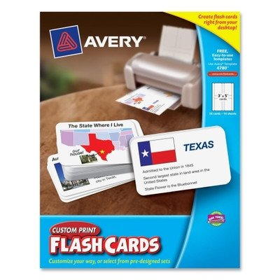 Custom Print Flash Card [Set of 2] (Avery Custom Print Flash Cards compare prices)