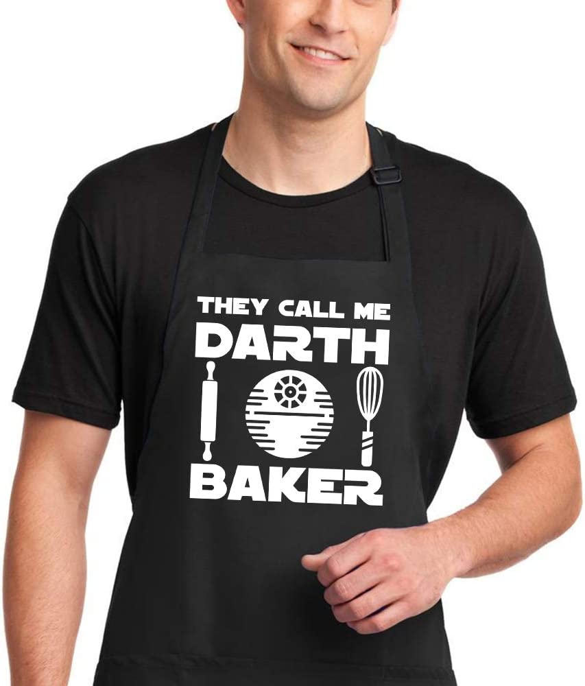 Star Wars themed punny apron.