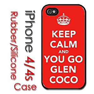 iPhone 4 4S Rubber Silicone Case - Keep Calm and Go Glen CoCo