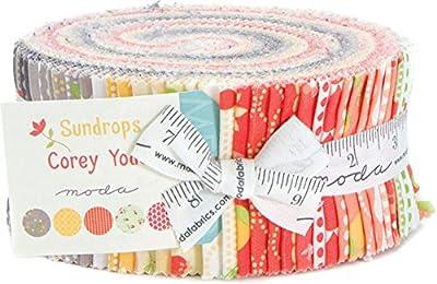 "Moda Sundrops Jelly Roll, 40 2.5"" Strips Precut Fabric by Moda by Moda Fabrics"