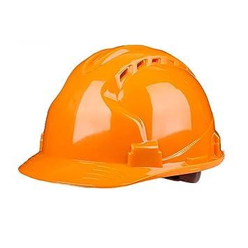 5eb85f23b7f4b Casco de construcción-Duro Sin ventilación Sombrero de seguridad Equipo de protección  personal Casco ajustable de trinquete de 4 puntos Casco ajustable ...