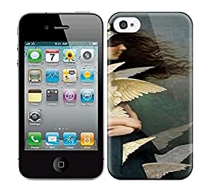 Best Power(Tm) HD Colorful Painted Watercolor Many Wings For Girl Hard Phone Case For Iphone 4/4S