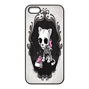 Skeleton Cat For HTC One M8 Phone Case Cover Black