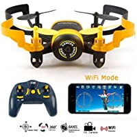 Qsmily JXD 512W MIni WIFI FPV Camera Drone With One-Key-return & Headless Mode 2.4Ghz 6-Axis RC Quadcopter For Children Gift