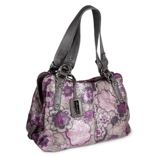 MIADORA Alli Grey Floral Satchel, Bags Central