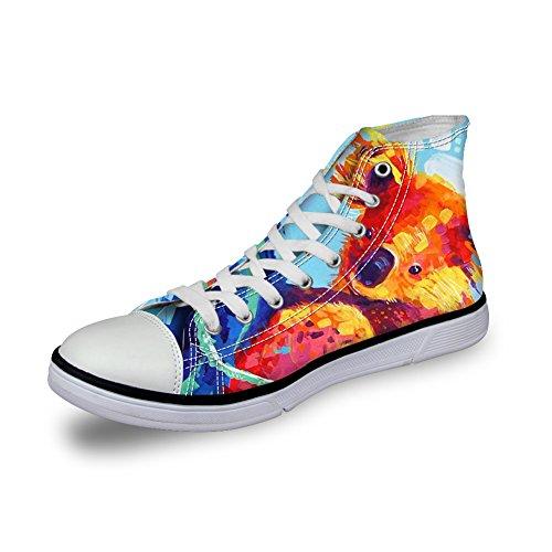 Voor U Ontwerpt Mode Unisex Uil Wolf Paard Animal Print Hoge Top Veterschoenen Casual Canvas Sneakers Voor Vrouwen En Mannen Koala