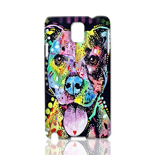 Cherish The Pitbull ~ Custom Design 3d Rough Surface Case ~ Hard Case Cover Skin ~ Best Quality Case Skin for Samsung Galaxy Note 3 N9000 ~ Ideal Gift By Linda Art Case