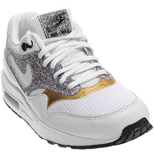 NIKE Women's Air Max 1 SE White/White/Black Casual Shoe 8 Women US
