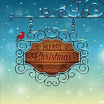 baocicco merry christmas backdrop 7x7ft vinyl 2019 happy new year photography background christmas vintage greeting card