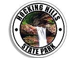 GHaynes Distributing Round HOCKING HILLS State Park Sticker Decal (ohio oh rock cave rv) 4 x 4 inch