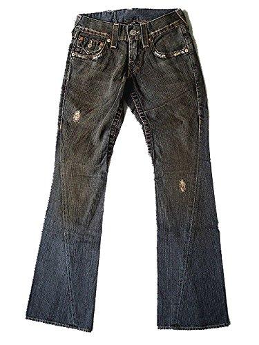 New True Religion Men's Flare Denim Jeans - Joey Medium - Black Vintage (25)