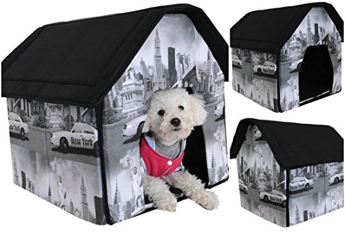 1 Set Superbly Popular Indoor Pet House Soft and Warm Fabric Portable Bed Dog Tent Style New York