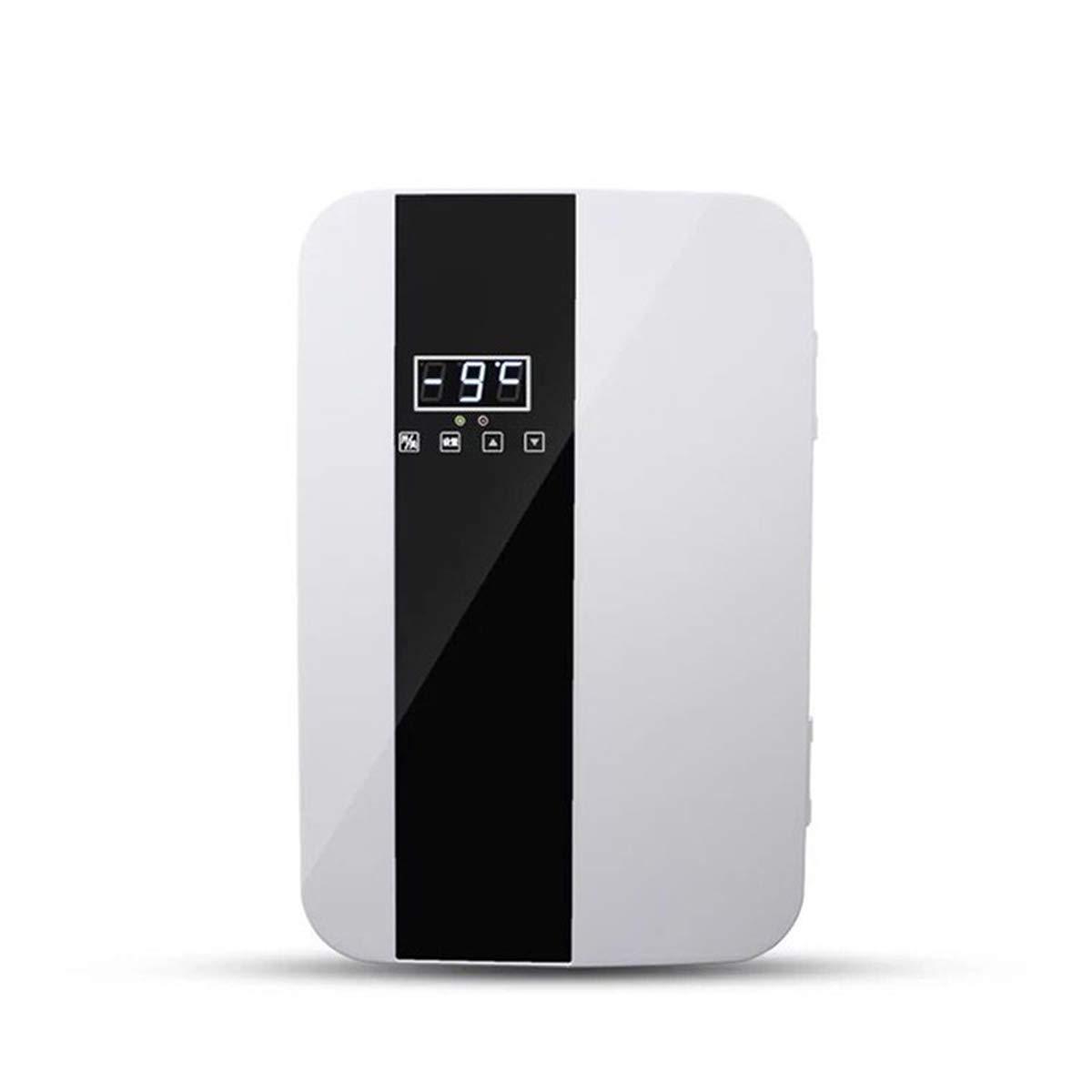 Dapang Dual core Fast Cooling Mini Fridge, CNC LED Display - Cools & Heats,Adjustable Removal partition for Dorm, Home, Car - AC & DC,22L