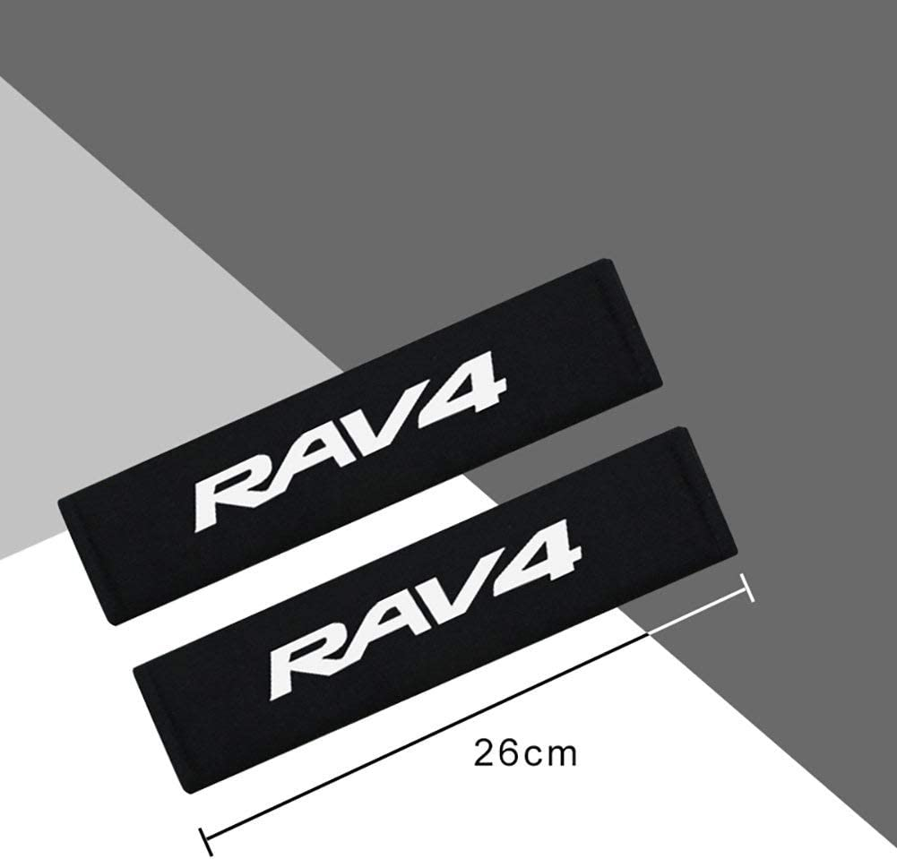 AniFM 2Pcs Car Styling Protect Shoulders Pads Case Auto Cover Stickers Accessories For Toyota RAV4 Car-Styling