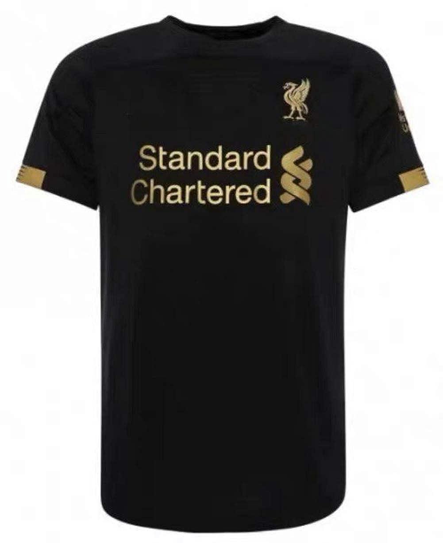 Fan Shirts Neue Saison Liverpool schwarz Erwachsenen Shirt Fu/ßball Schwei/ß absorbierende trockene Bequeme T-Shirt benutzerdefinierte personalisierte Namensnummer Fan-Wettbewerb