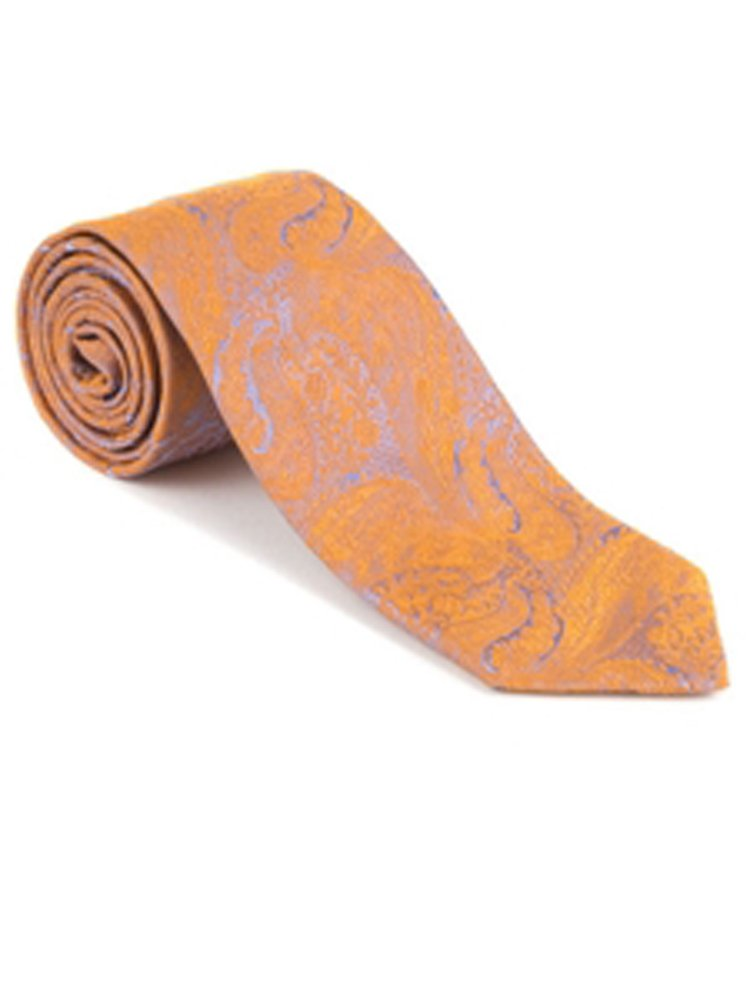 Robert Talbott Orange Sudbury Sky Best of Class Tie