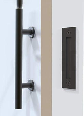 Tirador de puerta corrediza de acero inoxidable 304 Tirador de puerta Tirador de puerta de madera Tirador de puerta negro para puertas interiores Tirador, Negro mate, Estados Unidos: Amazon.es: Bricolaje y herramientas