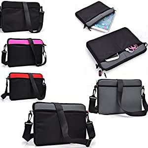 Grey/Black protective neoprene sleeve/carrying messenger bag- Universal fit for - Universal design fits HP MINI 210-1160NR