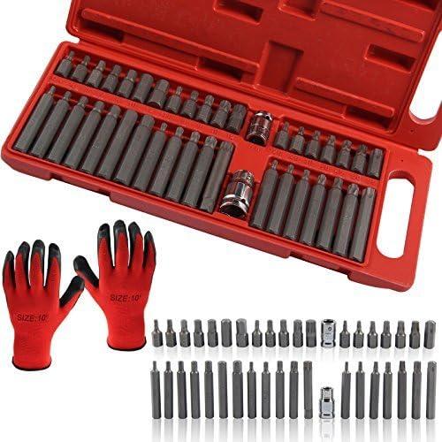 multiware 40/pi/èces cannel/ée Douille Torx Hex Star de Kit doutils Garage Outils /équipement