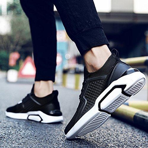 Up Comfy Shoes Lace Fashion Sports Mesh Black Shoes Men's Breathable 7RYTqR0