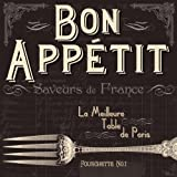 Paperproducts Design 1251100 Beverage Cocktail Napkin, 5 by 5-Inch, French Bon Appetit