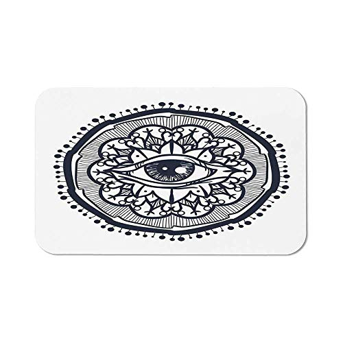 Chakra Ordinary Mouse Pad,Eastern Spiritual Design with Lotus Flower Petal Mystical Powers of Nature Print for Computers Laptop Office & Home,11.81''Wx27.56''Lx0.08''H