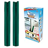 Twin Draft Guard Extreme in Green - Set of 2 - Energy Saving Under Door Draft Stopper