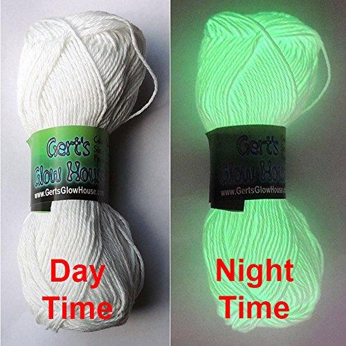 Glow in the Dark Yarn - 120 Yards per roll - Fingering (Glow In The Dark String)