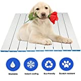 RIOGOO Pet Cooling Pad, Self Dog Cat Cooling Mat, Aluminum Alloy Foldable Cooling Mat for Dogs and Cats (L:20.2×15.7 IN)