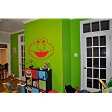 Elmo Sticker Elmo Decal Elmo Wall Art Sesame Street Nursery Room Kids Bedroom Children's Room Wall Art Decal Stickers Tr397
