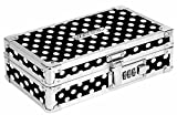 Vaultz Locking Supply Box 8.5 x 2.5 x 8.5 Black & White Polka Dot Deal (Small Image)