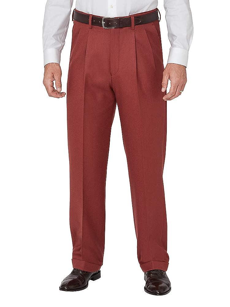 Rockabilly Men's Clothing Paul Fredrick Mens Wool Flannel Pleated Pants $69.98 AT vintagedancer.com