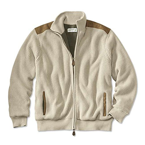 Orvis Mechanic's Foul-weather Sweater, Stone, Small