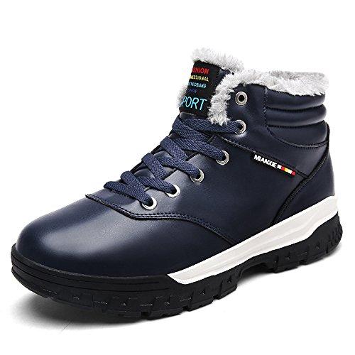 BAINASIQI Uomo Stivali da Neve Casuale Tenere caldo Scarpe Invernali Sneakers Outdoor Scarpe sportive Inverno Boots Blu