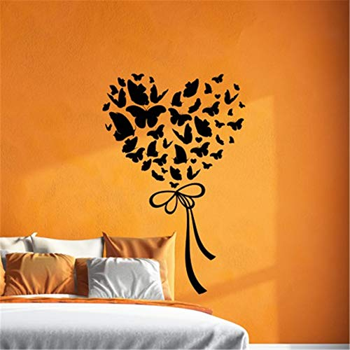 Wall Quotes Decal Wall Stickers Art Decor French Quote Papillons Formant Un Coeur Pour Salon Chambre D'Enfant Butterflies Forming A Heart for Living Room Kids Room