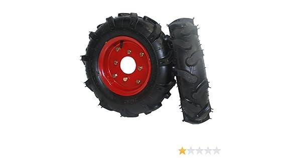 Bricoferr PTMT034 Juego de ruedas agrícolas neumáticas (400 x 8