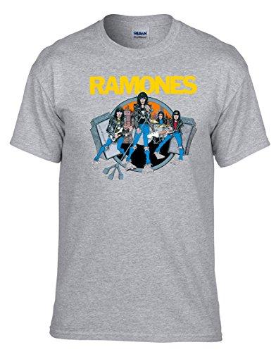 Ramones Music Rock Metal Rules Grau Fun T-Shirt -118 -Grau