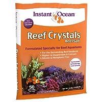 Instant Ocean Reef Crystals Reef Salt, formulación enriquecida para acuarios, 50 galones