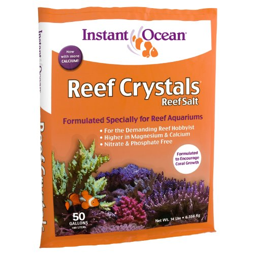 Instant Ocean Reef Crystals Reef Salt, Enriched Formulation for Aquariums, 50-Gallon