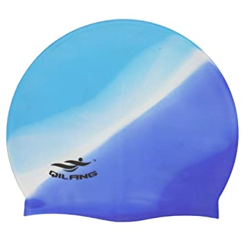 Ogquaton Gorro de natación de Silicona Sombreros de natación a ...