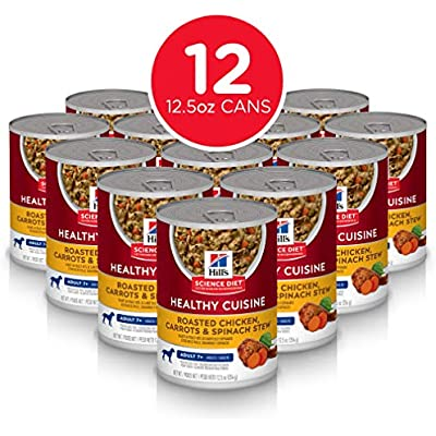 Hill's Science Diet Wet Dog Food, Adult 7+ for Senior Dogs, Healthy Cuisine, 12.5 oz Cans, 12 Pack