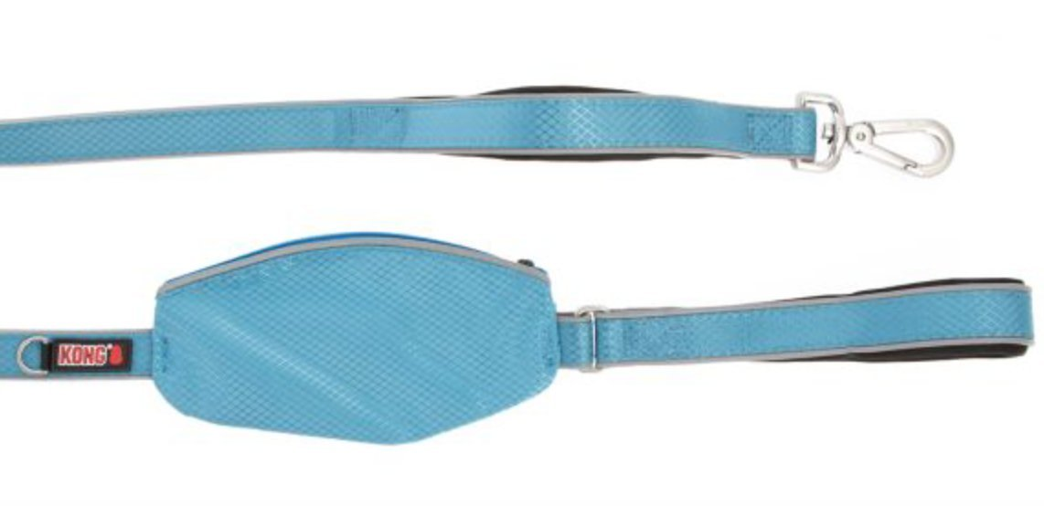 by Barker Brands Inc. Kong Traffic Handle Reflective Quick Control Leash 4' (Blue)